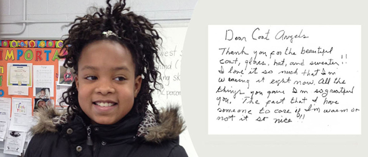 Coat Angels Thank You note 1